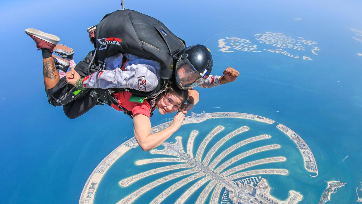 What I would buy if I won the lottery; sky diving in Dubai